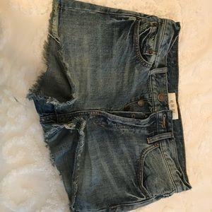 Free People denim high waisted shorts